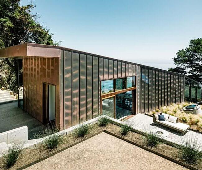 revestimiento de casa con textura