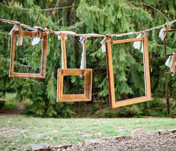 photocall de bodas como marco