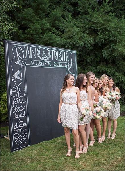 fondo plano de photocall para bodas
