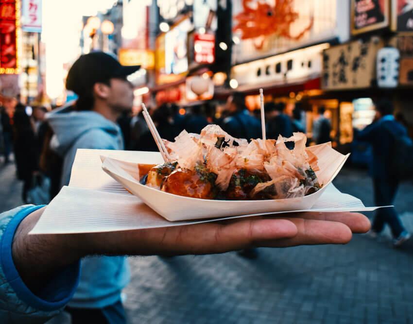 comida en la calle para viajes