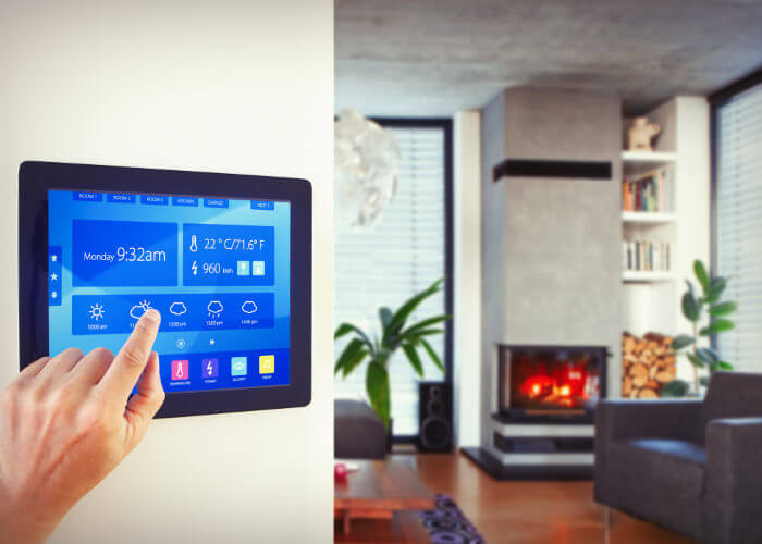 panel de luz de casas inteligentes
