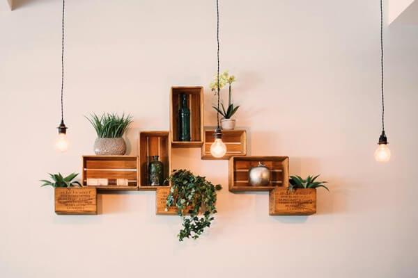 decoración ecológica con madera
